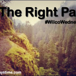 The Right Path  #WilcoWednesday