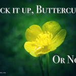 Suck it Up, Buttercup… Or not