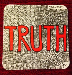 One Word 2016: TRUTH