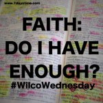 Faith: Do I have enough?   #WilcoWednesday
