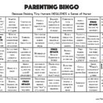 Parenting Bingo (Humorous Printable)